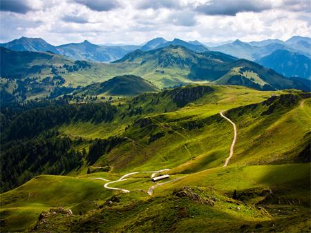 kitzbuhel mountain view wallpaper