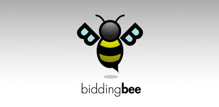 bidding bee logo