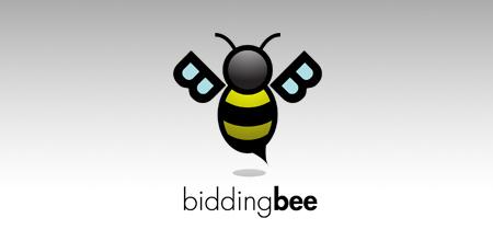 bidding bee logo