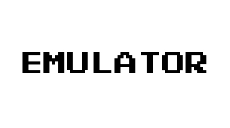 Emulator pixel font