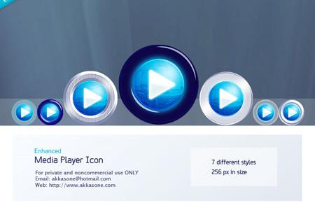 media player icon enhanced