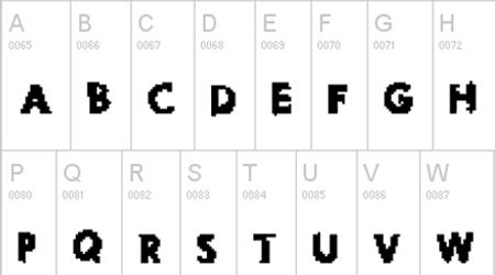 pixel noise font