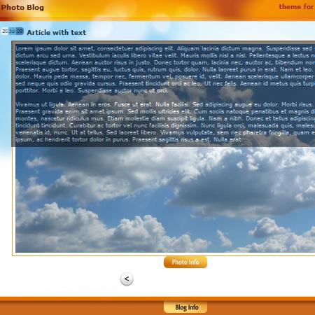 Photo-Blog wordpress theme