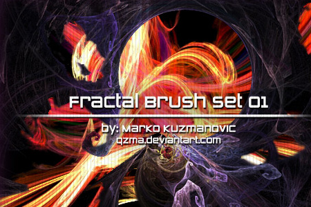 Fractal Brush Set 01 by Qzma