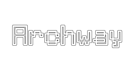 Archway pixel font