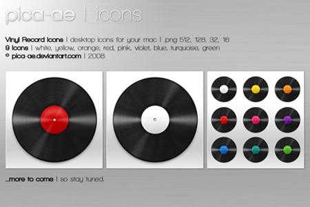 vinyl record icons