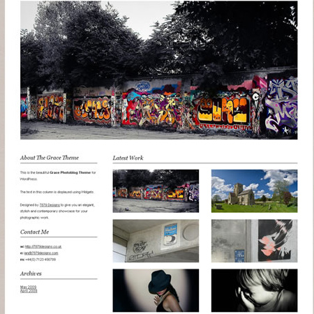 Free WordPress Photoblog Theme – Grace