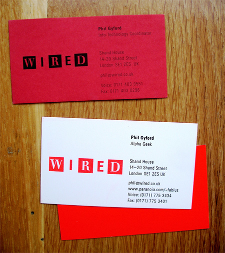 wired UK business cards