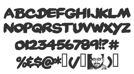 yard sale comic font