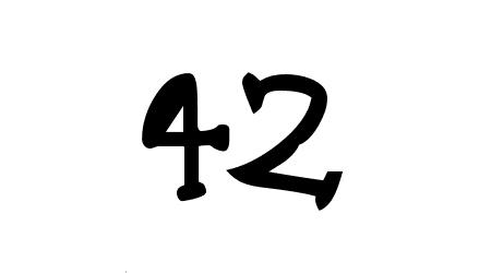 42 comic font