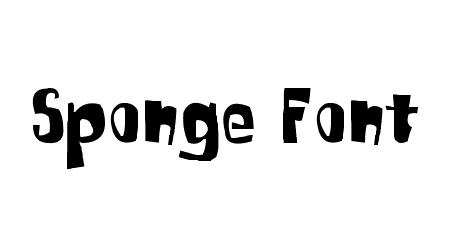 sponge font comic font