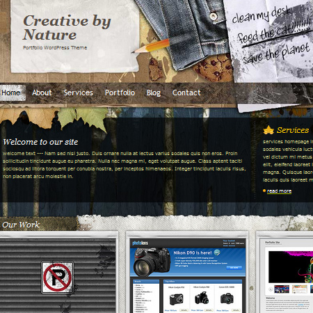 Free Portfolio WordPress Theme: Creative by Nature