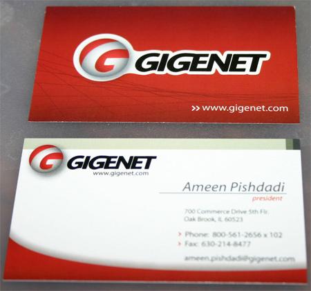 new gigeNET business card