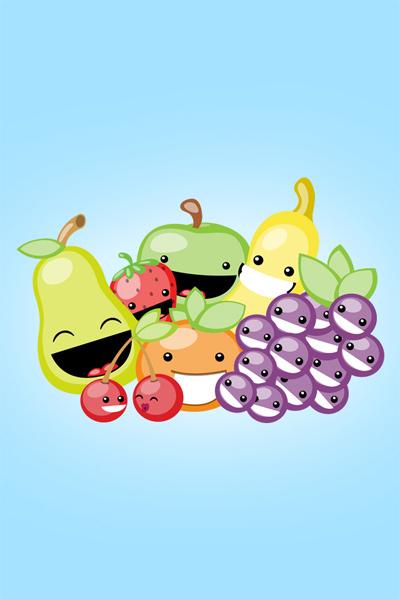 Jovial Fruit iPhone wallpaper