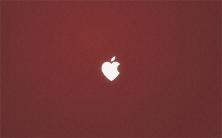 apple love wallpaper