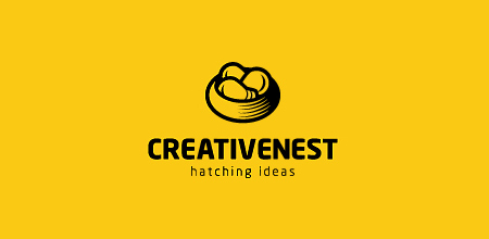 creative nest yellow logo