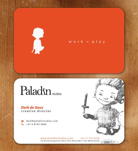 paladin studios business card