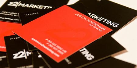 z2 marketing business card