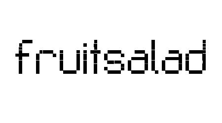 Fruitsalad pixel font