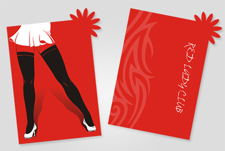 business card for lady club