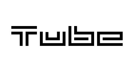 Tube pixel font