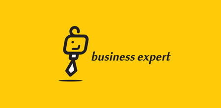Business expert yellow logo