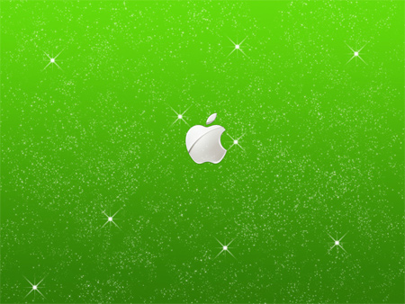 apple starry wallpaper
