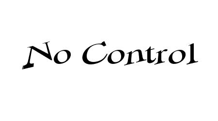 No control comic font