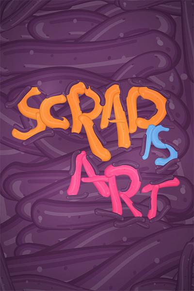 Scrap is Art iPhone wallpaper