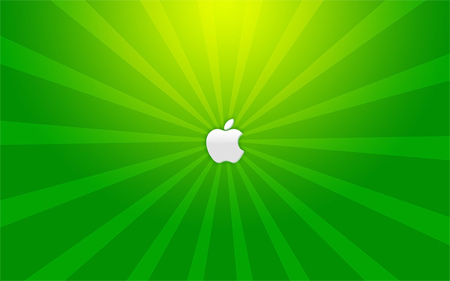 a green apple wallpaper