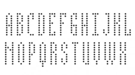 BPdotsCondensed pixel font