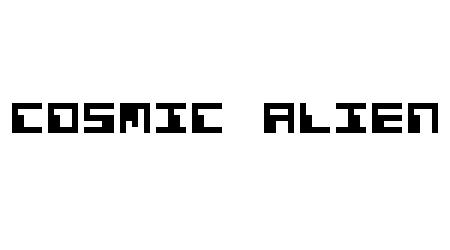Cosmic Alien pixel font
