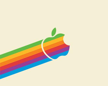 flying apple wallpaper