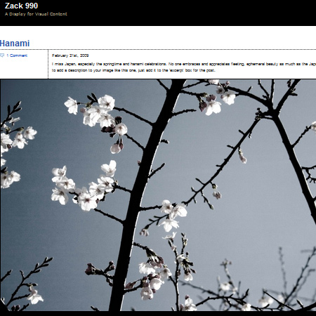 Zack 990: a theme for photogobloggers