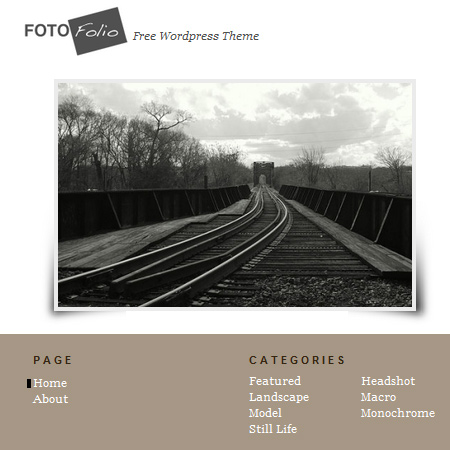 Fotofolio WordPress Theme-For your online portfolio