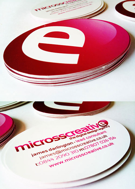 micros creative business card