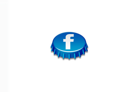 beer cap social icon