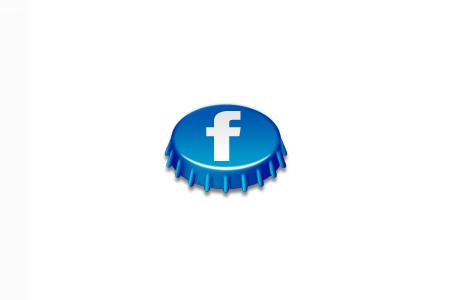 beer cap social icon