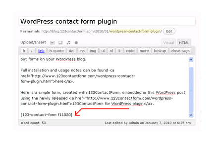 123 Contact Form for WordPress