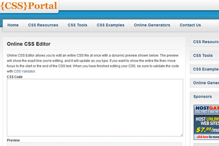 Online CSS Editor