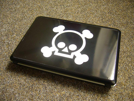 Warning Laptop Skin