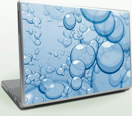 Laptop Skin Bubbles Blue