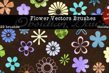 Flower Vectors Brushes