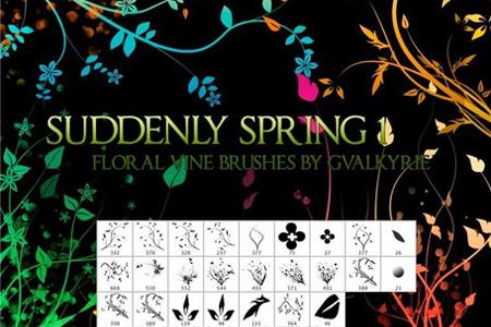 Suddenly Spring Photoshop Brushes