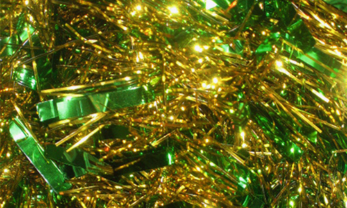 Green Christmas Tinsel Texture
