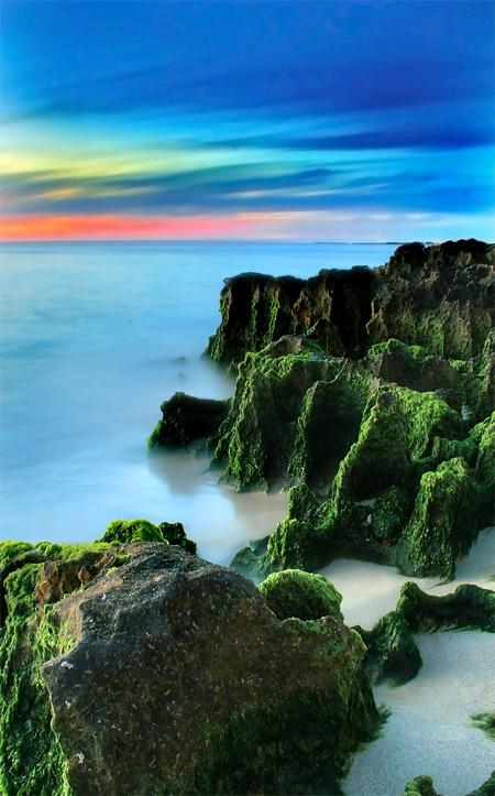 Green Rocks Long Exposure