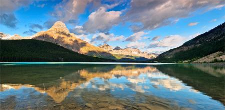 Low Waterfowl Lakes Sunrise