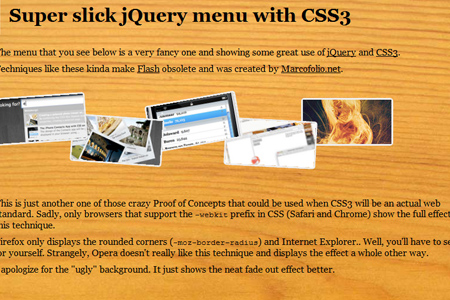 Super Slick jQuery Menu with CSS