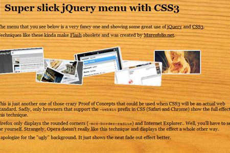 Super Slick jQuery Menu with CSS
