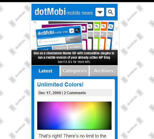 wordpress theme for mobile